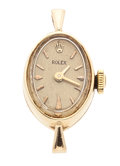 Timepieces:Wristwatch, Lady's 14k Gold Manual Wind Rolex Wristwatch. ...