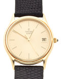 Timepieces:Wristwatch, Concord 14k Gold Gent's Wristwatch, Original Box. ...