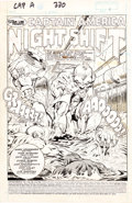 Original Comic Art:Splash Pages, Tom Morgan and Sam de la Rosa Captain America #330 SplashPage Original Art (Marvel, 1987)....