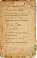 Books:Religion & Theology, Eliphalet Lyman. TWO DISCOURSES PREACHED AT WOODSTOCK...TO WHICH IS SUBJOINED AN APPENDIX, GIVING AN ACCOUNT OF SOME...