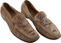 "Movie/TV Memorabilia:Costumes, A Pierce Brosnan Pair of Signed Loafers from ""Die Another Day.""..."