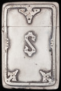 Silver Smalls:Match Safes, AN AMERICAN SILVER MATCH SAFE, circa 1900. Marks: STERLING,7217B. 2-5/8 inches high (6.7 cm). 1.09 troy ounces. FROM ...