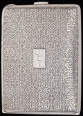 Silver Smalls:Cigarette Cases, A TIFFANY & CO. SILVER CIGARETTE CASE, circa 1900. Marks:TIFFANY & CO.. 4-1/8 inches high (10.5 cm). 4.19 troyounces. ...