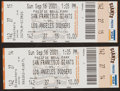 Baseball Collectibles:Tickets, 2001 Barry Bonds 73rd Home Run Original Game Tickets Lot of 2....
