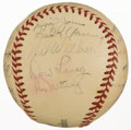 Autographs:Baseballs, 1948 St. Louis Cardinals Team Signed Baseball With 21 Signatures.....