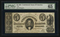 Confederate Notes:1861 Issues, T34 $5 1861 PF-1 Cr. 262.. ...