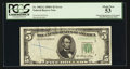 Error Notes:Obstruction Errors, Fr. 1962-G $5 1950A Federal Reserve Note. PCGS About New 53.. ...