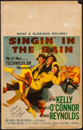 """Movie Posters:Musical, Singin' in the Rain (MGM, 1952). Autographed Window Card (14"""" X 22""""). Musical.. ..."""