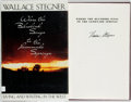 Books:Biography & Memoir, Wallace Stegner. SIGNED. Where the Bluebird Sings to theLemonade Springs. Living and Writing in the West. New Y...
