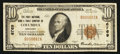 National Bank Notes:Kentucky, Columbia, KY - $10 1929 Ty. 1 The First NB & TC Ch. # 6769. ...