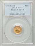 Mexico, Mexico: Republic gold Peso 1898 Go-R MS62 PCGS,...
