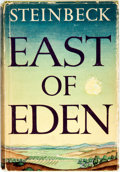 Books:Literature 1900-up, John Steinbeck. East of Eden. New York: Viking, 1952.Publisher's green cloth with original dust jacket. Some chippi...