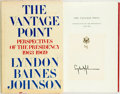 Books:Americana & American History, [American History]. Lyndon Baines Johnson. SIGNED. The VantagePoint. New York; Holt, Rinehart, et al. [1971]. First...