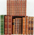 Books:Literature Pre-1900, [Leather Bindings]. Group Lot of Twenty Assorted Leather Bindings.Includes complete sets, incomplete sets, single volumes o...(Total: 20 Items)