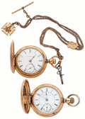 Timepieces:Pocket (post 1900), Elgin & Non-Magnetic Watch Co. 18 Size Pocket Watches. ... (Total: 2 Items)