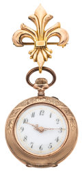 Timepieces:Pocket (post 1900), Swiss 10k Gold Pocket Watch. ...