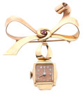 Timepieces:Pendant , Nastrix Ladies 14k Gold Pendant Watch & Pin. ...