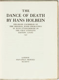 Books:Literature Pre-1900, Hans Holbein. LIMITED. The Dance of Death. Enlarged Facsimilesof the Original Wood Engravings by Hans Lützelberger in t...