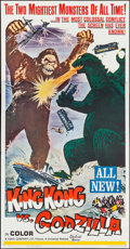 "Movie Posters:Science Fiction, King Kong vs. Godzilla (Universal, 1963). Three Sheet (41"" X78.5""). Science Fiction.. ..."
