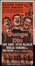 "Movie Posters:Action, Gunga Din (RKO, R-1954). Three Sheet (41"" X 78""). Action.. ..."