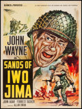 "Movie Posters:War, Sands of Iwo Jima (Republic, R-1950s). Italian Foglio (19.25"" X27""). War.. ..."