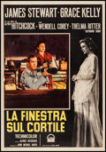 "Movie Posters:Hitchcock, Rear Window (Paramount, R-1960). Italian Photobusta (19.5"" X 28"").Hitchcock.. ..."