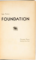 Books:Science Fiction & Fantasy, Isaac Asimov. Foundation. New York: Gnome Press, 1951. Firstedition. Octavo. Publisher's original blue cloth le...