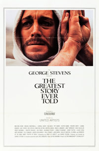 """The Greatest Story Ever Told (United Artists, 1965). Cinerama One Sheet (27"""" X 41"""")"""
