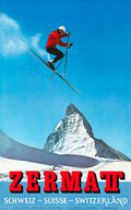 "Movie Posters:Miscellaneous, Zermatt, Switzerland Travel Poster (Wolfensberger, Zürich, 1965).Travel Poster (25"" X 40"") Photo: Perren-Barberini...."