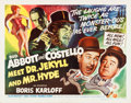 "Movie Posters:Comedy, Abbott and Costello Meet Dr. Jekyll and Mr. Hyde (UniversalInternational, 1953). Half Sheet (22"" X 28"") Style B.. ..."