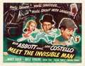 "Movie Posters:Comedy, Abbott and Costello Meet the Invisible Man (UniversalInternational, 1951). Half Sheet (22"" X 28"") Style A. Comedy.. ..."