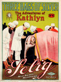 """Movie Posters:Adventure, Adventures of Kathlyn (Selig, 1914). British One Sheet (30"""" X 40"""")Chapter 6 -- """"Three Bags of Silver."""". ..."""