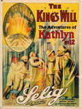 "Movie Posters:Adventure, Adventures of Kathlyn (Selig, 1914). British One Sheet (30"" X 40"")Chapter 12 -- ""The King's Will."". ..."