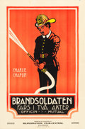 "Movie Posters:Comedy, The Fireman (Mutual, 1919). Swedish One Sheet (23.25"" X 35.25"")....."