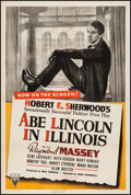 "Movie Posters:Drama, Abe Lincoln in Illinois (RKO, 1940). One Sheet (27"" X 41""). Drama....."