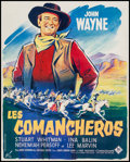 "Movie Posters:Western, The Comancheros (20th Century Fox, 1961). French Petite (17"" X 21.25""). Western.. ..."