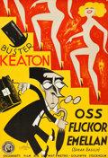 """Movie Posters:Comedy, Speak Easily (MGM, 1933). Swedish One Sheet (27.5"""" X 39.5"""").. ..."""