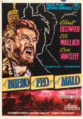 "Movie Posters:Western, The Good, the Bad and the Ugly (Regia Films, 1968). Spanish OneSheet (27.5"" X 39""). Western.. ..."