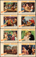 "Movie Posters:Adventure, The Buccaneer (Paramount, 1938). Lobby Card Set of 8 (11"" X 14"")..... (Total: 8 Items)"