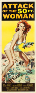 "Movie Posters:Science Fiction, Attack of the 50 Foot Woman (Allied Artists, 1958). Insert (14"" X 36"").. ..."
