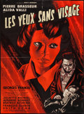 "Movie Posters:Horror, Eyes Without a Face (Lux Compagnie Cinématographique de France, 1960). French Affiche (23"" X 31.25""). Horror.. ..."