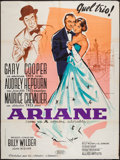 """Movie Posters:Romance, Love in the Afternoon (Allied Artists, 1957). French Grande (47"""" X 63""""). Romance.. ..."""