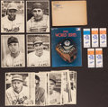 Baseball Cards:Sets, 1949 Brooklyn/Dodgers Team Pack and 1978 World Series Program and Tickets. ...