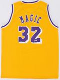 Basketball Collectibles:Others, Magic Johnson Signed Los Angeles Lakers Jersey. ...