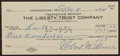 "Autographs:Checks, 1954 Robert ""Lefty"" Grove Signed Check...."