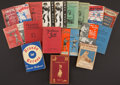 Boxing Collectibles:Memorabilia, 1907-71 Vintage Boxing Books & Pamphlets, Two Signed by Nat Fleischer, Lot of 19....