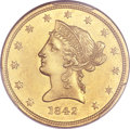 Liberty Eagles, 1842 $10 Small Date MS61 PCGS....