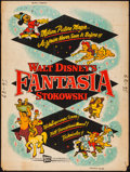 "Movie Posters:Animation, Fantasia (Buena Vista, R-1956). Poster (30"" X 40""). Animation.. ..."