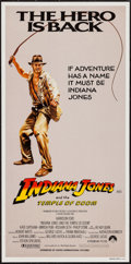 "Movie Posters:Adventure, Indiana Jones and the Temple of Doom (Paramount, 1984). AustralianDaybill (13.25"" X 26.75""). Adventure.. ..."