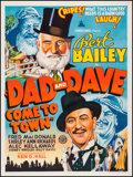 "Movie Posters:Comedy, Dad and Dave Come to Town (Associated Film Distributors, 1938).Australian One Sheet (30"" X 40""). Comedy.. ..."